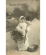 Edwardian Young Child BASKET Gifts FRENCH postcard P080 - $9.99