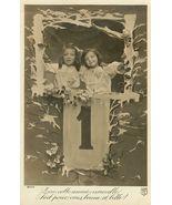 Edwardian New YEARS Children ORG c.1917 postcard P083 - $9.99