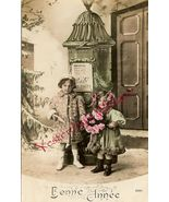Edwardian YOUNG SISTERS French ORG postcard P105 - $9.99