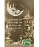 Edwardian Noel ANGEL Moon BELL PARIS postcard P143 - $9.99