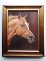 Custom Horse Portrait, Miniature Oil Painting, Horse head, Animal, Frame... - $100.00
