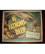 Lon CHANEY Jr. 16 FATHOMS Deep ORG 1948 Lobby CARD - $19.99