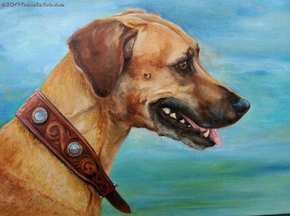 Custom Dog portrait, Oil painting on canvas, Dog head paintng, Pet Portrait, Art