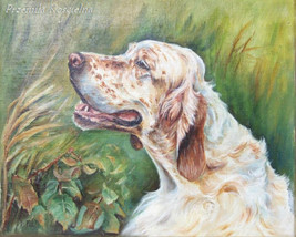 Custom Dog portrait, Oil painting on canvas, Dog head paintng, Pet Portr... - $230.00