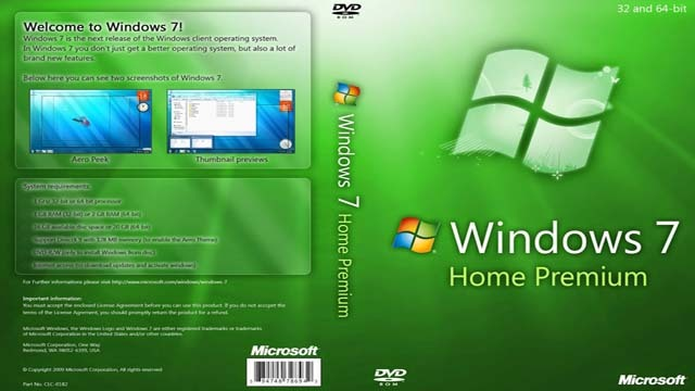 Microsoft windows 7 home premium product key for 32 or 64 for Microsoft windows home