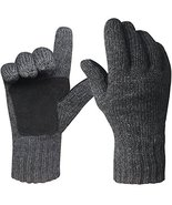 Mens Winter Gloves Warm Wool Knitted Mittens Cold Weather - $33.66