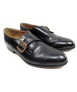 Giorgio Brutini Mens Shoes Size 9.5 D Black Leather Single Monk Strap EUC - $31.04