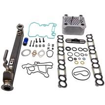 EGR Cooler Kit New for Ford Oil Cooler Intake Gaskets for Ford 6.0 Power... - $197.63