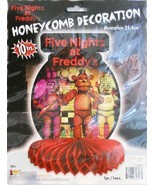 Five Nights at Freddy's Honeycomb Centerpiece 1 Ct Birthday Party Suppli... - £5.52 GBP