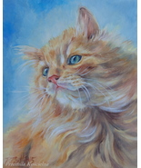 Custom Cat portrait, Oil Painting on canvas,Custom Pet Portrait, Animal Art - $230.00