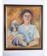 Custom portrait from photos, Pet portrait with owner, Child portrait, Oi... - $550.00