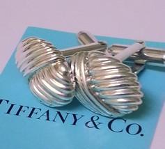 TIFFANY & CO. ~ SOLID SILVER CUFF LINKS ~ NAUTICAL SHELL  ~ RARE - $289.99