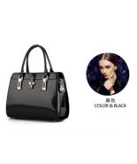 10 Color Women Patent Leather Handbags Crocodile Pattern Fashion Tote Ba... - $42.99