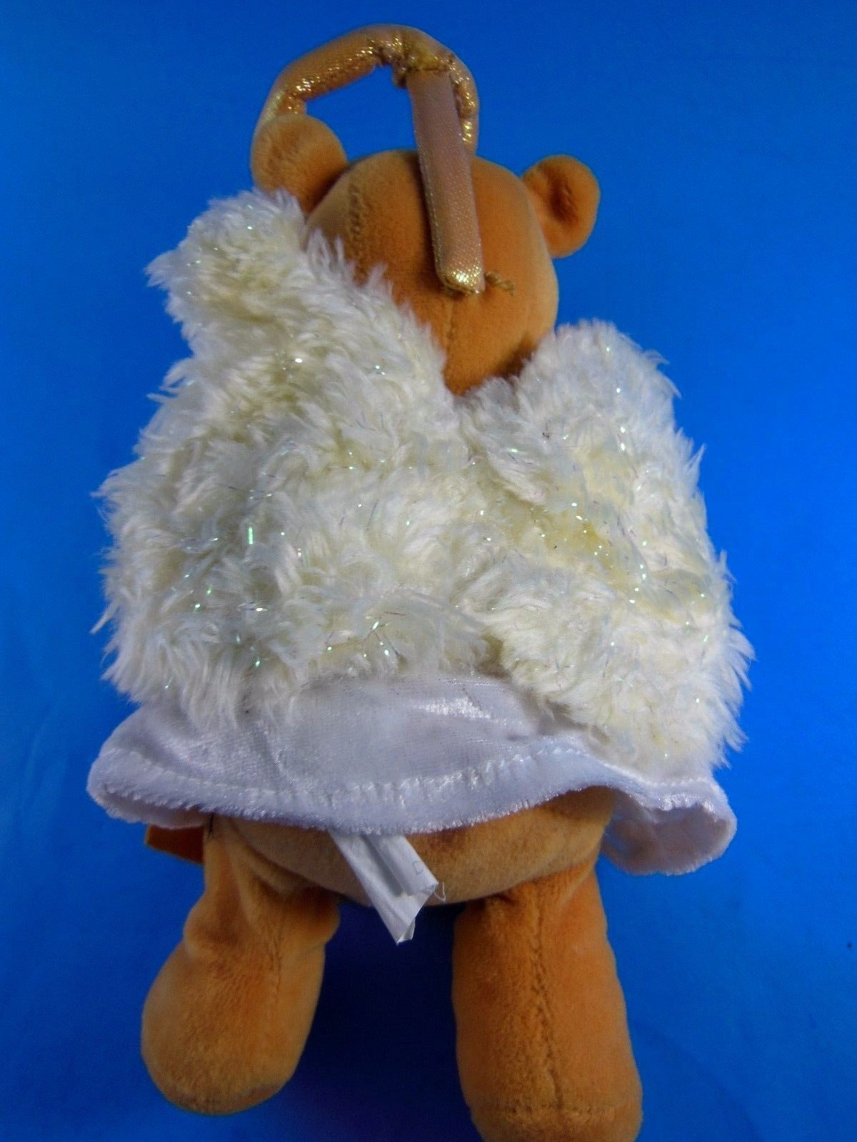"Winnie the Pooh Christmas Choir Angel 8"" Bean Bag Plush Disney 2000 Exc"