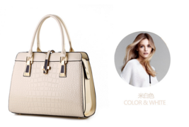 Free Shipping Patent Leather Handbags Crocodile Pattern Shoulder Bags B15-5 - $42.99