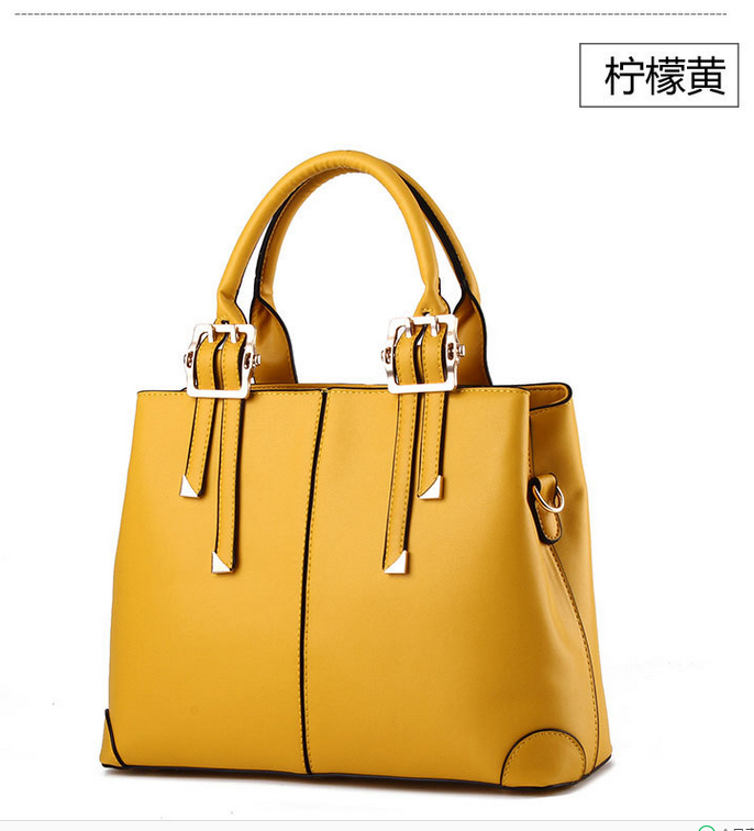 Fashin New Women Leather Handbags Tote Bags,Large Shoulder Bag Mixed Color B18-2