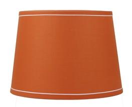 "Urbanest French Drum with White Trim 10x12x8.5"" Lampshade, Orange - $39.59"