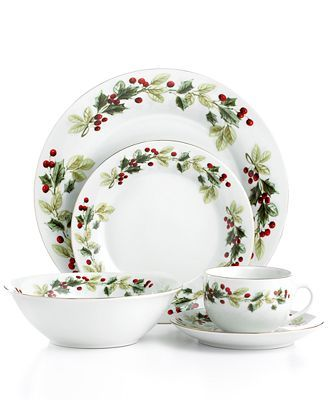 Gibson 20 piece holiday classic dinnerware set