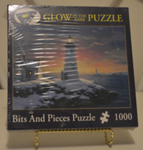 Bits and Pieces Harbor Lights 1000 Piece Glow in the Dark Puzzle Sealed ... - $9.95