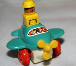 TOMY Push-Down Wind-Up Airplane Toy! Collectable, Working Order 1982  - $7.63