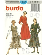 Burda Sewing Pattern 3851 Misses Womens Skirt B... - $9.99