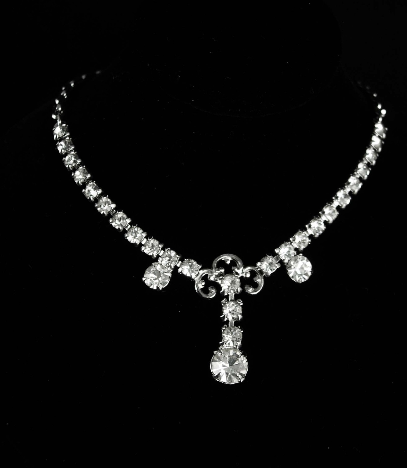 Primary image for Vintage Bridal necklace Dazzling rhinestone choker Vintage Rhinestone Necklace