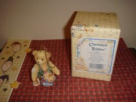 Cherished Teddies Bear I'll Play My Drum For You Christmas Ornament - $10.99