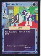Not On The List 2014 Hasbro My Little Pony Card #112U - $0.99