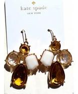NWT $78 KATE SPADE Chandelier Drop Pierced Earrings 14K Gold Fill Gold W... - $32.00