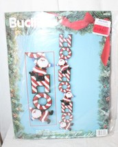 "Bucilla Christmas Felt Wall Hanging Kit Ho Ho Ho Santa 34"" Tall - $42.08"