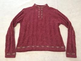 Woolrich 1/4 Zip Rosebud Sweater Ramie Wool Blend Women's Size S 9506 - $681,40 MXN
