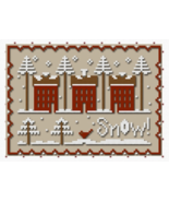 A Little Snow cross stitch chart w/floss by Classic Colorworks LHN - $8.50