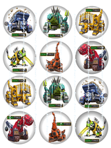 DINOTRUX: 12 Edible Image Cupcake Toppers 2.25 ... - $8.78