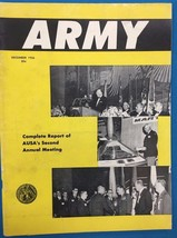 ARMY Magazine December 1956 vintage manufacturers' space era ads throughout - $14.84
