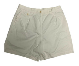 Lauren Ralph Lauren women's short pants high waist white zip cotton size 12 - $18.27