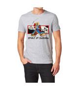 Spirit of Samurai Warrior Martial Arts T-Shirt Gray LARGE ronin ghost tee - $18.50
