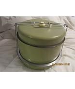 Vintage Mid-Century 5-Piece Sage Green Cake Car... - $58.00