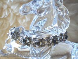 Vintage Onyx & Marcasite Bracelet Hallmark NP 925 Sterling Silver~Fine F... - $275.00