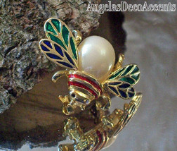 Vintage Insect Pin Multi Enamel Jelly Belly Brooch~Costume Jewelry~Winge... - $49.00