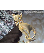 Vintage Cat Pin Pet Whimsy Sleek Brooch~Figural... - $39.00