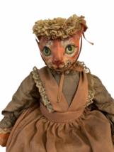 "Vintage Michael Berger Figure Figurine Art Sculpture Orange Cat Doll 21"" image 2"