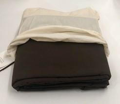 Restoration Hardware Garment-Dyed Sateen Duvet Full/Queen Chocolate NEW ... - $159.99