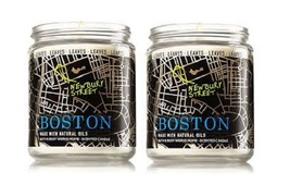 Bath & Body Works Boston - Leaves Scented Jar Candle with Lid 7 oz ea- ... - $24.50