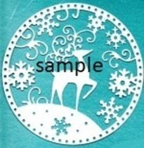 Christmas Reindeer Circle Cross Stitch Chart - $8.00