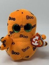 "2016 Ty Beanie Boos Halloween GHOULIE Orange Ghost Glitter Eyes Ghoul 6""... - $5.93"