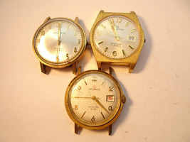 3 VINTAGE HELBROS INVINCIBLE 17 JEWEL WATCHES TO RESTORE OR FOR PARTS - $114.89