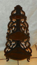 Mahogany Pierce Carved Corner Shelf by Butler - $199.00