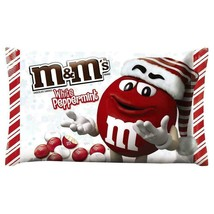 M&M's WHITE CHOCOLATE PEPPERMINT candy LIMITED M&Ms seasonal 7.44oz bb 0... - $4.49