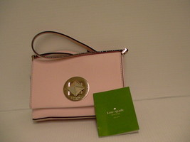 Womens Kate spade cross body small bag sally pink Saffiano leather new - $79.15