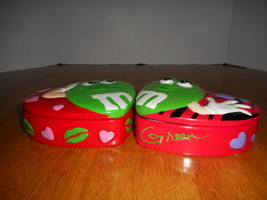 M&M Madame Green Valentine Candy Dish/ Trinket Duo - $30.00